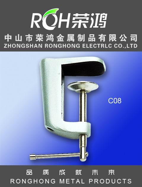 金属夹图片-型号为C08-又称压铸铝夹,主要表面处理有:各种电镀、喷涂等