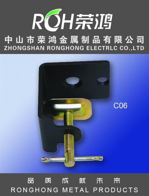 金属夹图片-型号为CO6-亦称铁皮夹-表面处理主要有:各种电镀、喷涂等