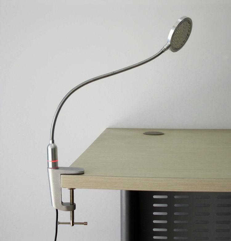 台灯支架-鹅颈软管、压铸铝夹